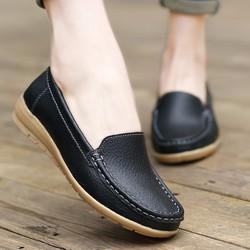 Giày Lười Nữ Da Thật