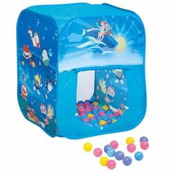 Lều bóng Nhà chơi của bé hình vuông màu xanh + 100 bóng CBH-02-A