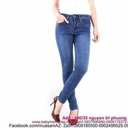 Quần jean nữ dài kiểu ống ôm sành điệu QD244