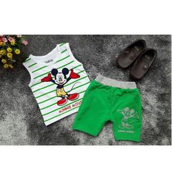 Bộ áo sát nách chuột Mickey phối quần thun NX317