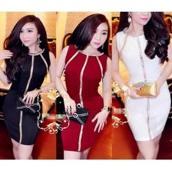 Đầm Body Đinh Kim Sa Màu Giống Bella NS-D685