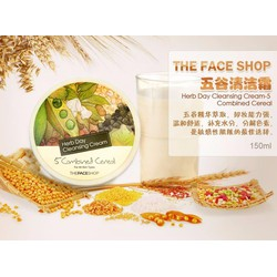 THEFACESHOP - KEM TẨY TRANG HERB DAY CLEANSING CREAM 5 COMBINED CEREAL