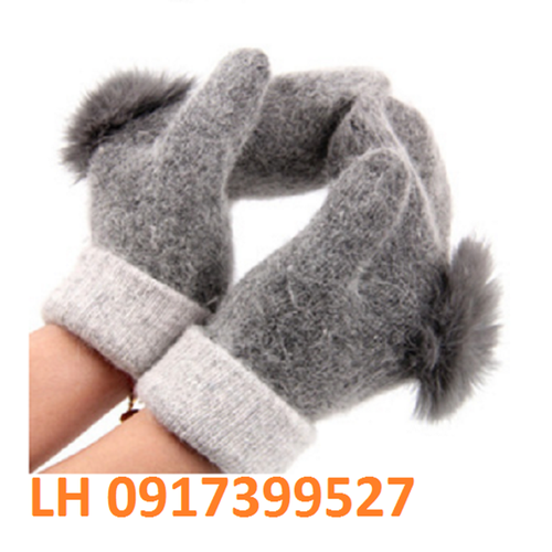 bao tay nữ găng tay nữ cao cấp lông thỏ len phong cách Hàn Quốc mới K79G2