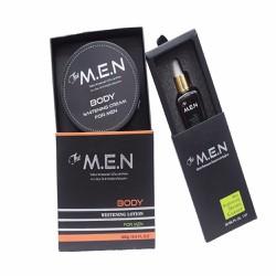 Bộ Dưỡng Da Dành Cho Nam Serum Face và Body Whitening Cream The M.E.N