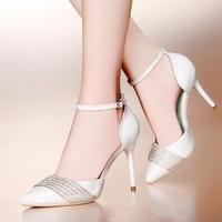 Giày cao gót đính hạt Nina cao cấp - LN172