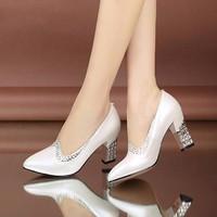 Giày cao gót đính đá cánh én - LN171