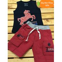 Bộ áo ba lỗ phối quần Zara túi hợp cực đẹp cho bé trai