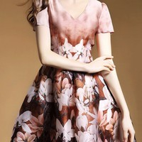 Đầm voan hoạ tiết