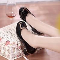 Giày gót vuông cao cấp Tina - LN154