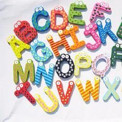 Bộ 24 chữ cái có nam châm hít SP226