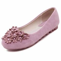 Giày búp bê phối hoa tiểu thư xinh xắn