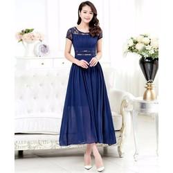 Đầm Maxi Phối Ren Tay Con D420