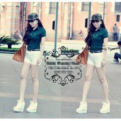 Set Nguyên Bộ Quần Short Áo Xanh Gucci Giống Bella NS-J91
