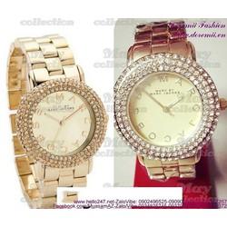 Đồng hồ inox nữ Marc đính hột lấp lánh sang trọng DHI133  GIÁ 390K