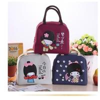 Túi giữ nhiệt xinh xắn cô gái Nhật loại dày cực cute