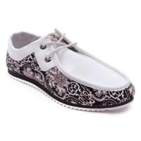 Giày Mọi Thắt Dây Vải Nhung TINTO - 1103DE
