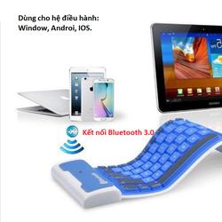 Bàn phím Bluetooth nhựa dẻo chống thấm nước