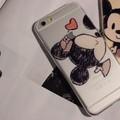 BỘ 2 ỐP LƯNG ĐÔI DẺO TRONG HÌNH Mickey và Minnie CHO iPhone 6 Plus