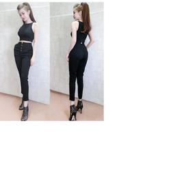 Set áo croptop quần nút đồng XMS99135