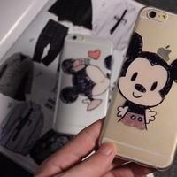 ỐP LƯNG DẺO TRONG HÌNH Mickey CHO iPhone 6