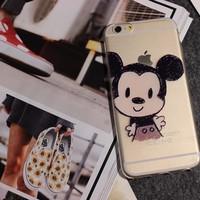 ỐP LƯNG DẺO TRONG HÌNH Mickey CHO iPhone 5