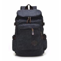 Balo vải bố du lịch màu đen tiện dụng cực bền BaloHome – 200
