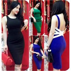 Đầm Body Đan Chéo Lưng Trang Apple TA-D765