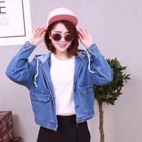 áo khoác Jean thời trang có nón