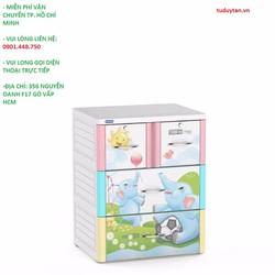 Tủ Nhựa Duy Tân Tabi M 3 Tầng Và 4 Ngăn voi con
