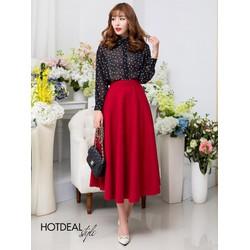 Chân váy Vintage xòe dài sang trọng về nhiều màu