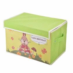 Tủ vải cao cấp có nắp khung cứng chống thấm Vina - Thỏ