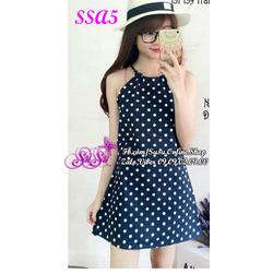 Đầm yếm chấm bi - SSA5