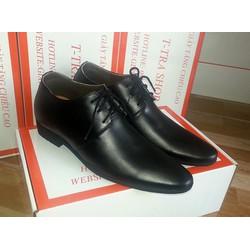 Giày tăng chiều cao nam TT 07 đen, 6 CM
