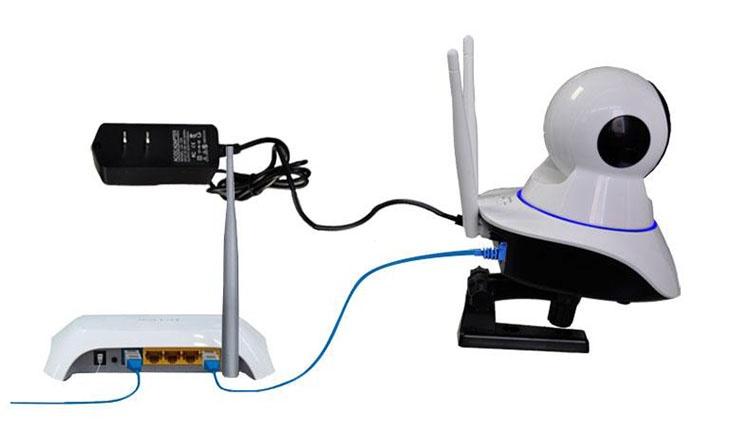 Camera HD Wireless IP quan sát và báo động Hola - xoay 360 độ 4