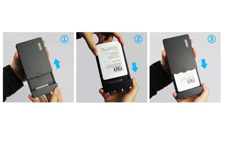 Hộp đựng Ổ cứng HDD Box 2.5 SATA chính hãng Unitek Y-3257 5