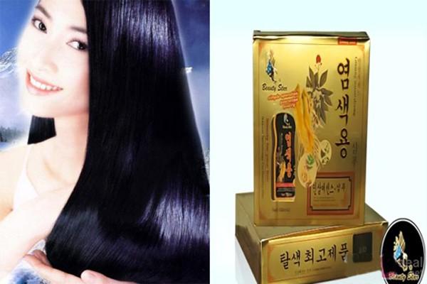 Bộ 2 chai dầu gội đen tóc Beauty Star Hàn Quốc 4