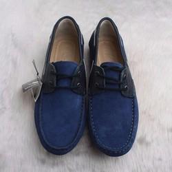 Giày mọi nam da lộn Geox dây trang trí