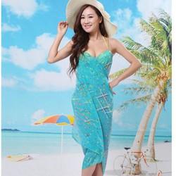 khăn tắm đi biển tia nắng có thể mặc thành váy