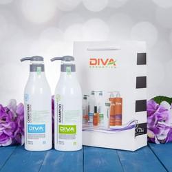 Bộ dầu gội xả phục hồi và dưỡng tóc siêu mềm mượt - DIVA Ý