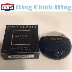 Nước hoa nam mini BVLGARI Aqva Pour Homme EDT 5ml