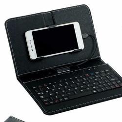 Bàn phím bao da mini máy tính bảng 10 in va ĐT android - 3 IN 1