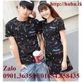 Bộ 2 áo thun đôi và váy đôi AT0169