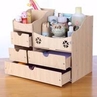 Tủ gỗ đựng đồ trang điểm 3 tầng - Tủ đa năng