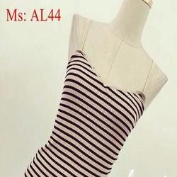 Áo len nữ 2 dây sọc màu ngang trẻ trung sành điệu AL44