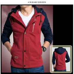 Áo khoác dù 2 lớp Logo Neo-đỏ AKN61