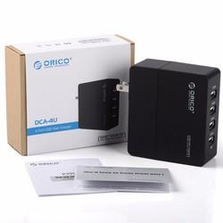 Sạc thiết bị di động Orico DCA-4U, 4 cổng USB 5V