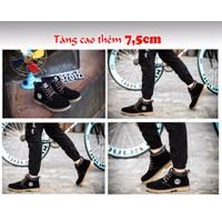 Giày BỐT Tăng Chiều Cao Da Lộn 7.5cm TINTO 1801DE