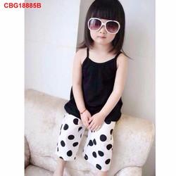 Bộ áo dây quần bi ống suông dễ thương cho bé gái 1 - 8 tuổi _CBT18885