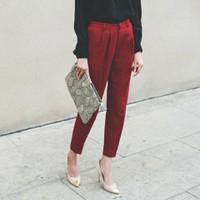 quần baggy vải