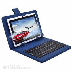 Bao da bàn phím máy tính bảng 9 - 10 inch có giá đỡ - Xanh